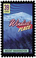 Stamp of Windiest Place in US