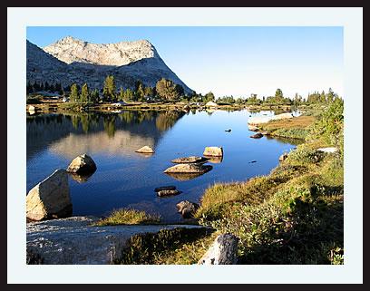 Pond near a high Sierra camp