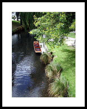 Quiet river in Christ Church New Zealand