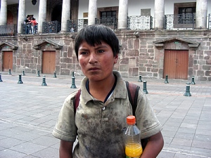 Quito shoeshine boy