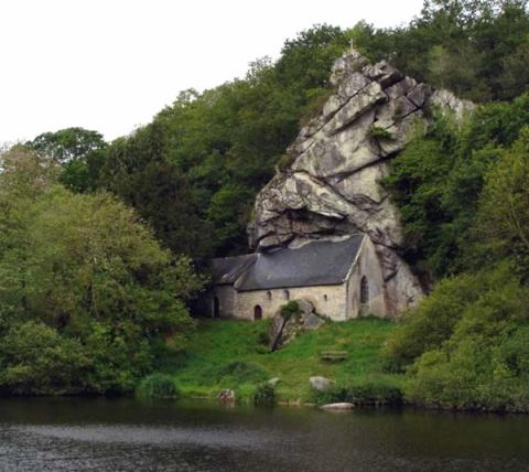 Church built into rock