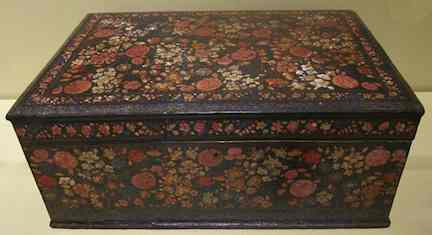 Kashmiri writing box, 19thC