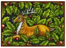 Christmas folk art reindeer