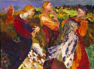 Gossips by F. Malyavin