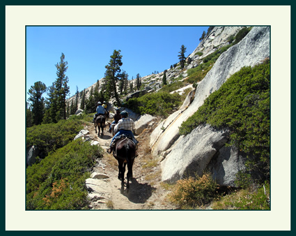 On the trail between Yosemite's Glen Aulin and May Lake Sierra Camps