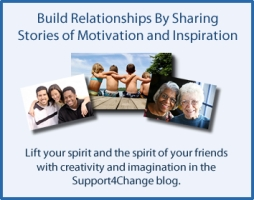 Build relationships by sharing stories of motivation and inspiration