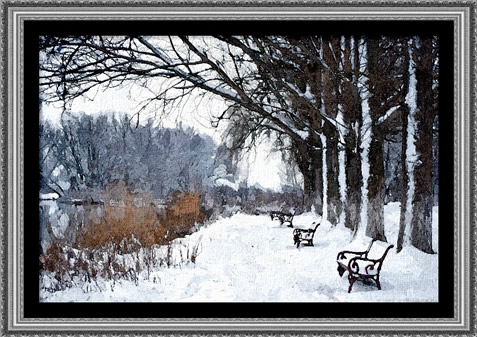 18 - Winter Benches - Medium