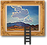 Ladder leading to picture